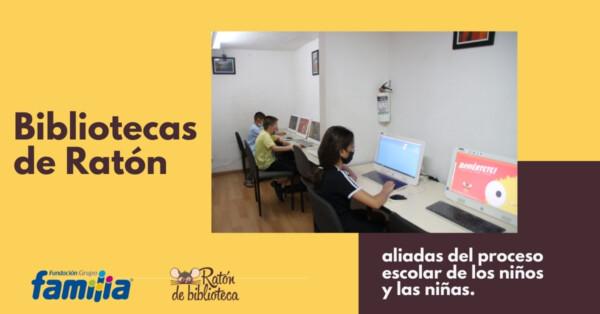 Bibliotecas de Ratón, aliadas del proceso escolar de los niños y las niñas